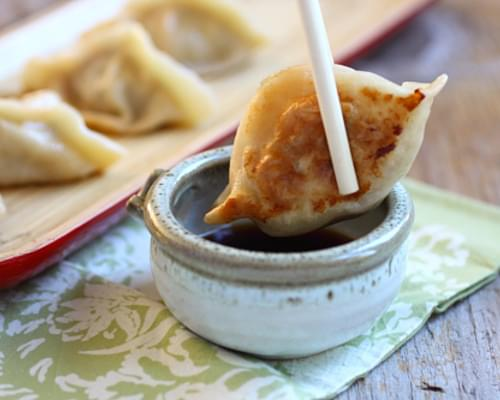 Pan-Fried Dumplings with Pork, Shrimp and Cabbage