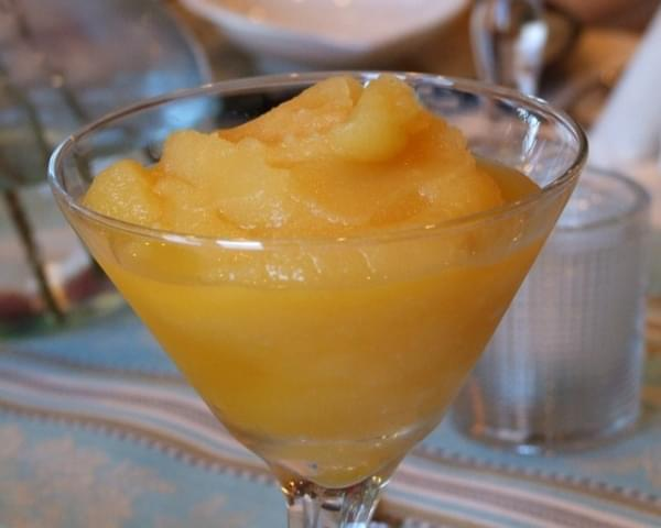 Spiced Fresh Orange & Honey Sorbet