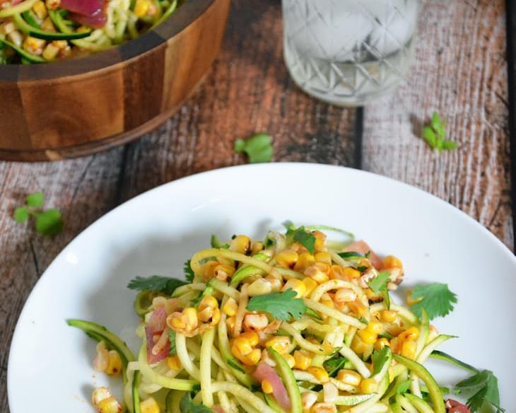 Roasted Corn & Zucchini Salad with Chili Lime Vinaigrette