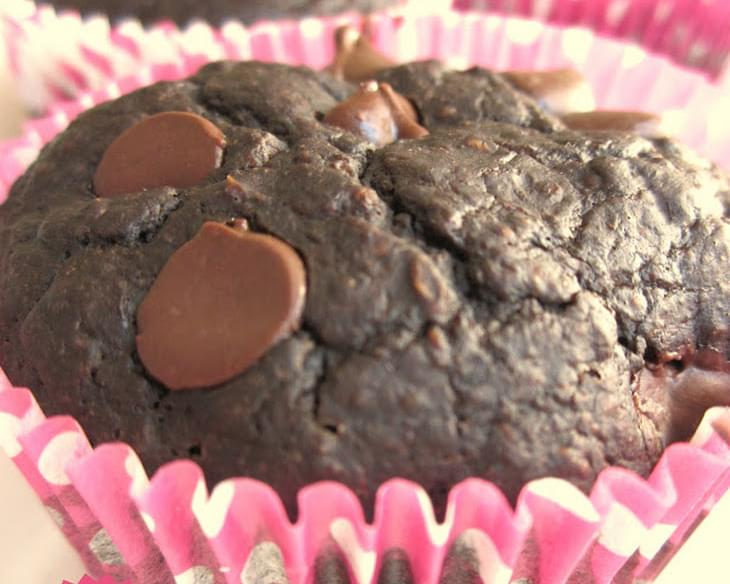 Triple Chunk Chocolate Muffins