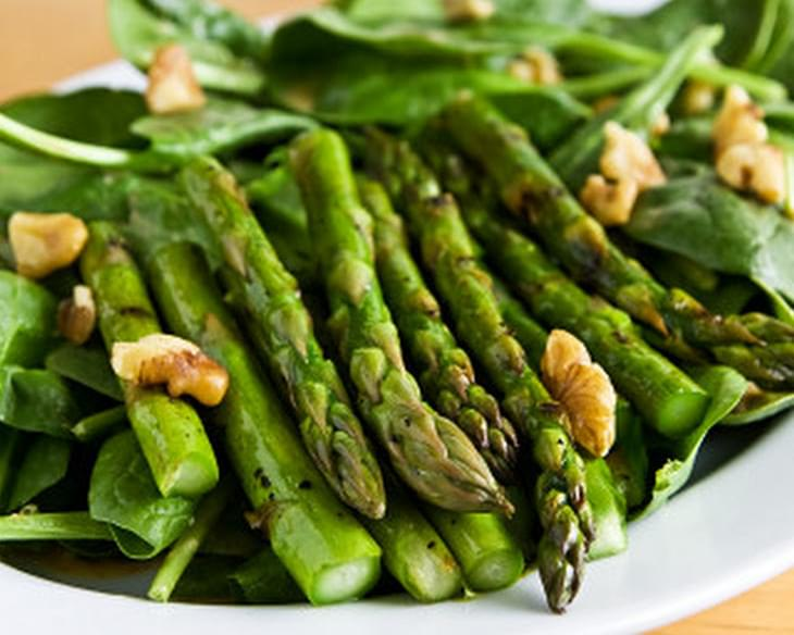 Grilled Asparagus and Spinach Salad