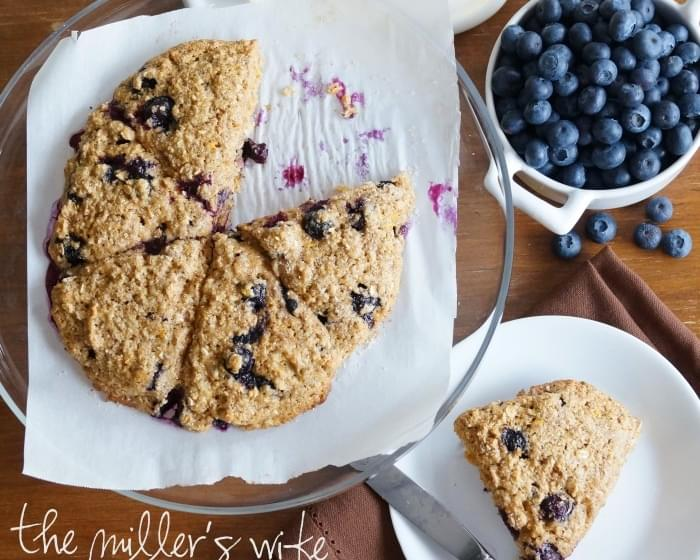Orange Scented Blueberry Scones