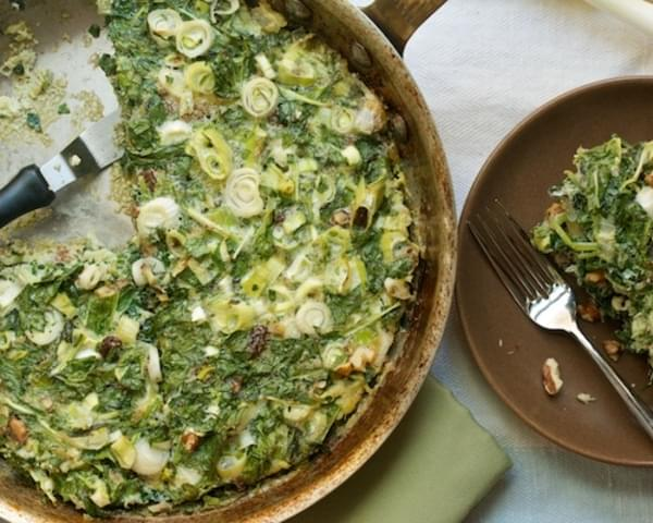 Iranian Kuku, or Baked Spinach & Herb Omelet