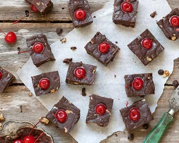 Gluten Free Chocolate Covered Cherry Fudge