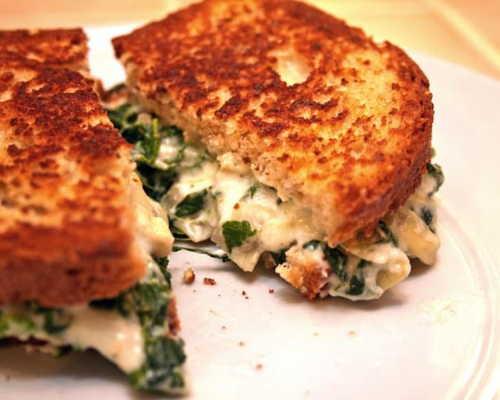 Spinach Artichoke Sandwich Melts