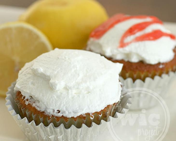 Lemon Strawberry-Filled Cupcakes