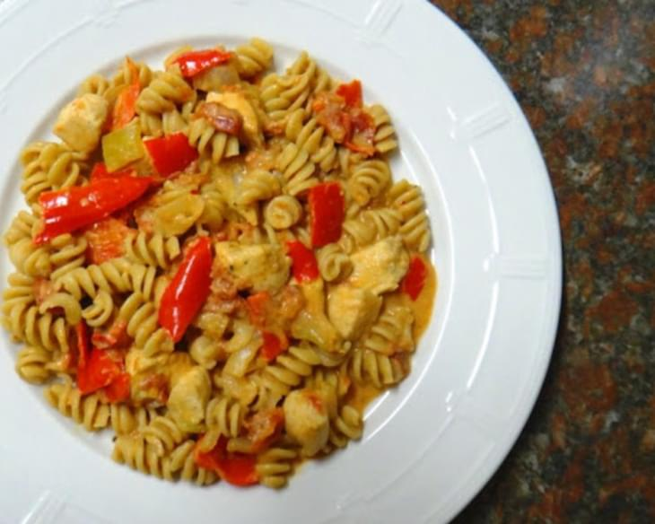 Healthy Creamy Cajun Chicken Pasta