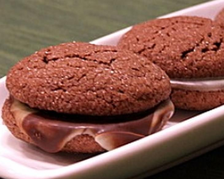 Chocolate- Mint Filled Cookies