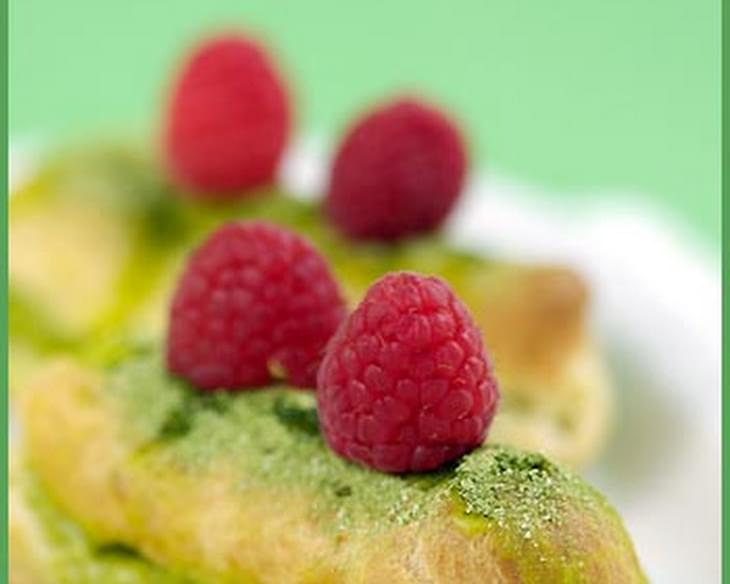 Matcha Tea Éclairs and Choux Pastry Stories