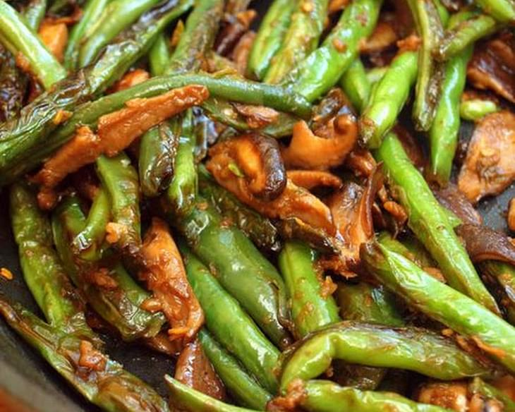 Stir-Fried Szechuan Green Beans & Shiitake Mushrooms