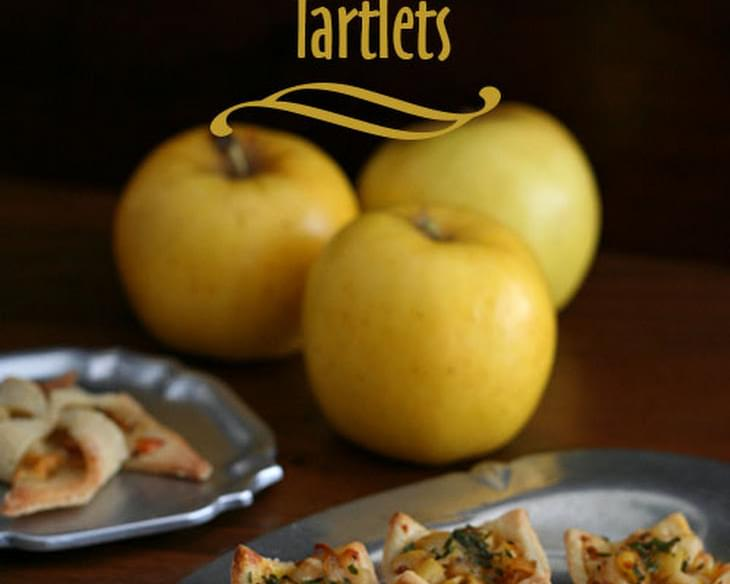 Apple & Caramelized Onion Tartlets - Low Carb and Gluten-Free