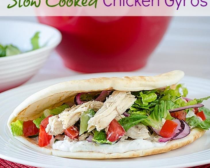 Slow Cooked Chicken Gyros