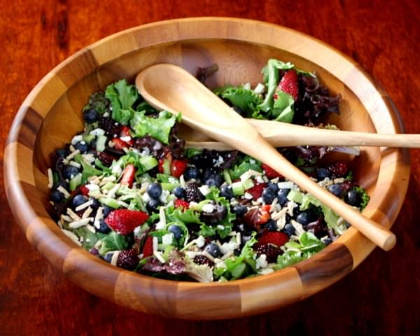 Triple Berry Salad with Sugared Almonds