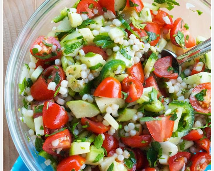 Couscous Tabbouleh with Tomatoes & Cucumber