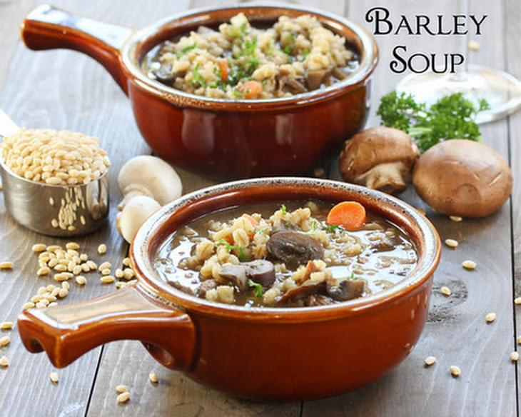 Beef and Barley Soup with Mushrooms