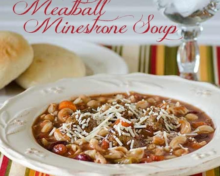 Slow Cooker Meatball Minestrone Soup