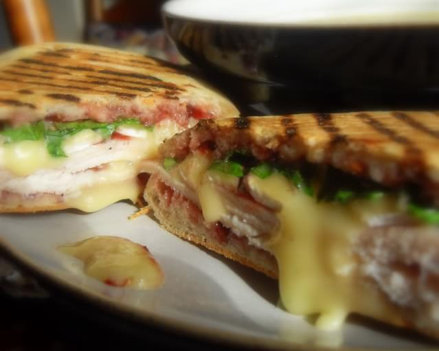 Turkey, Brie and Rocket Panini