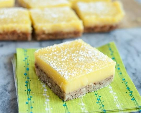 Heavenly Lemon Bars with Almond Shortbread Crust