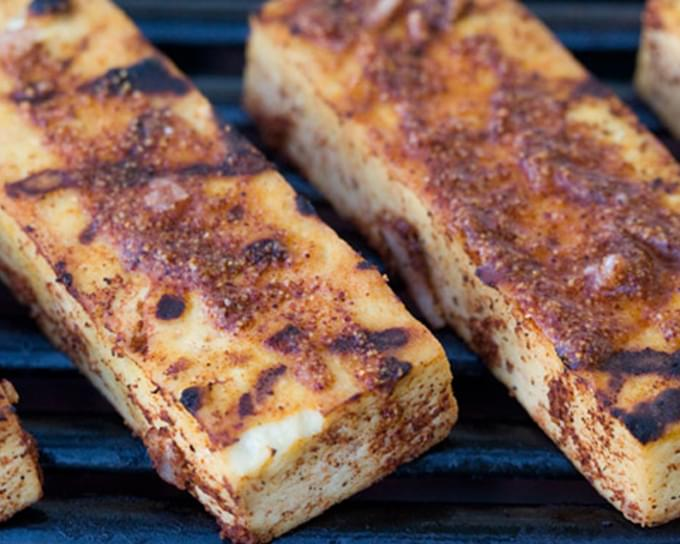 Lemon Achiote Grilled Tofu