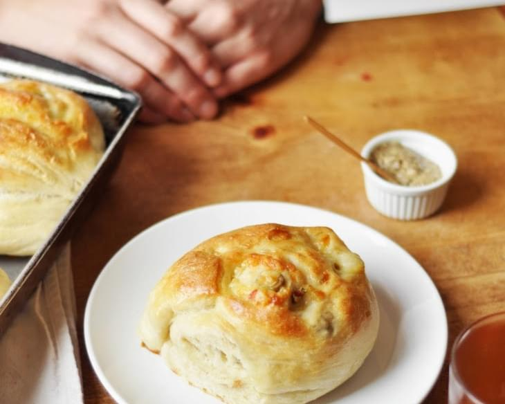 Gruyere and Green Olive Rolls