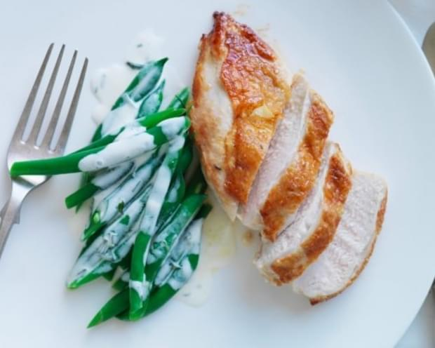 Graham Elliot's Chicken With Green Beans In Buttermilk-Tarragon Dressing