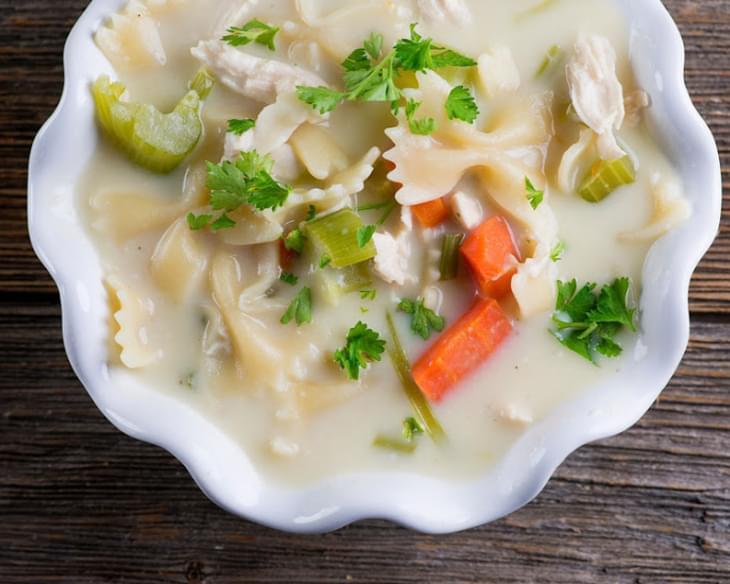Easy Creamy Chicken Noodle Soup