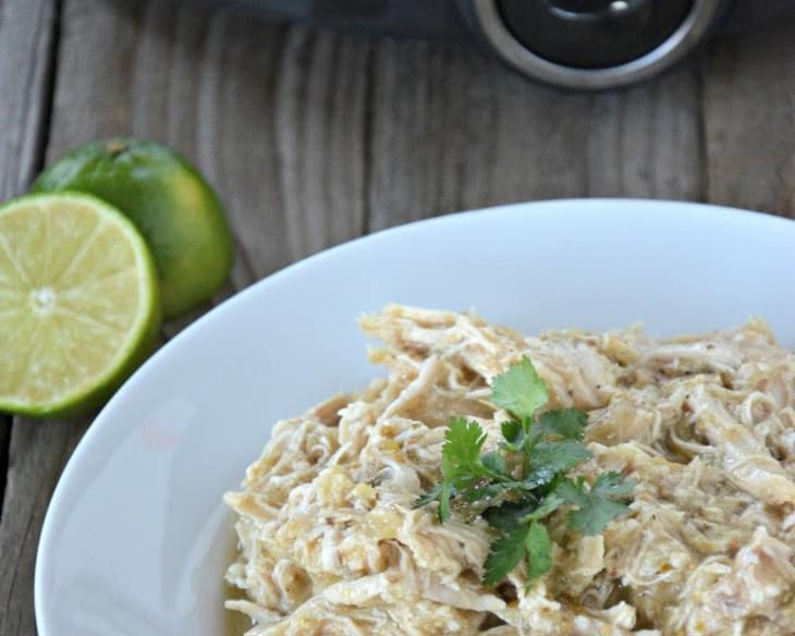 Slow Cooker Green Chili Chicken for Tacos