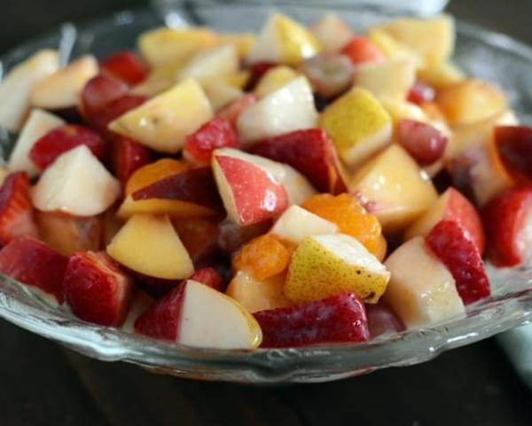 Fruit Salad with Glazed Dressing