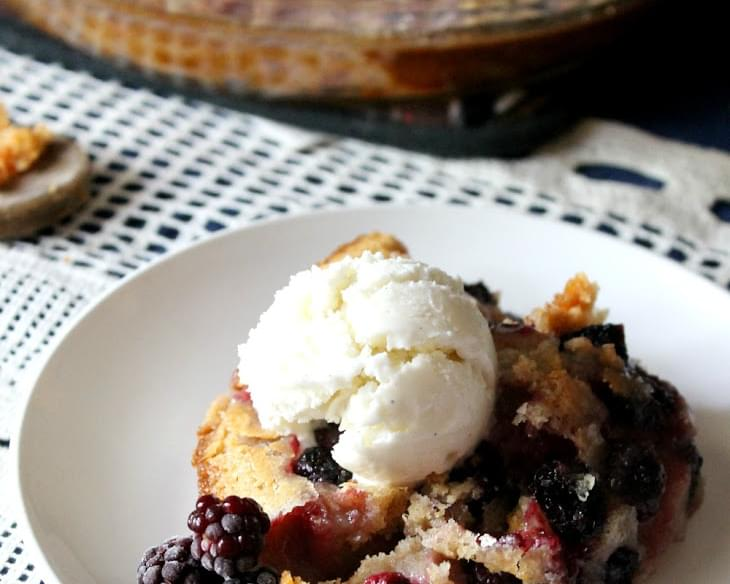 Perfect Whole Wheat Blackberry Cobbler