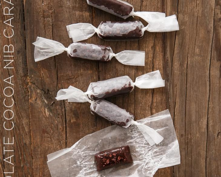 Dark Chocolate Cocoa Nib Caramels