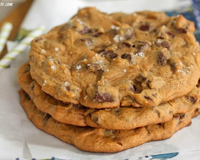 Giant Salted Pumpkin Chocolate Chunk Cookies