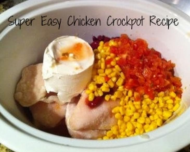 Super Easy Chicken Crockpot Recipe!! YUMMY!