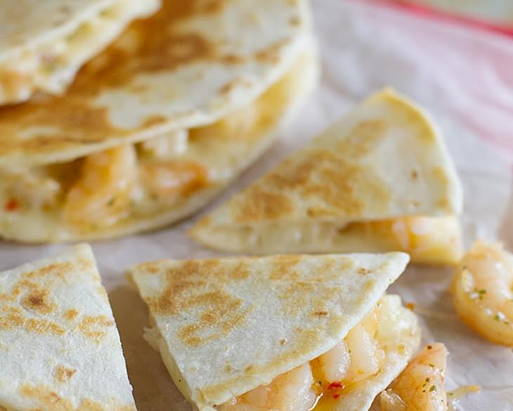 Shrimp Scampi Quesadilla