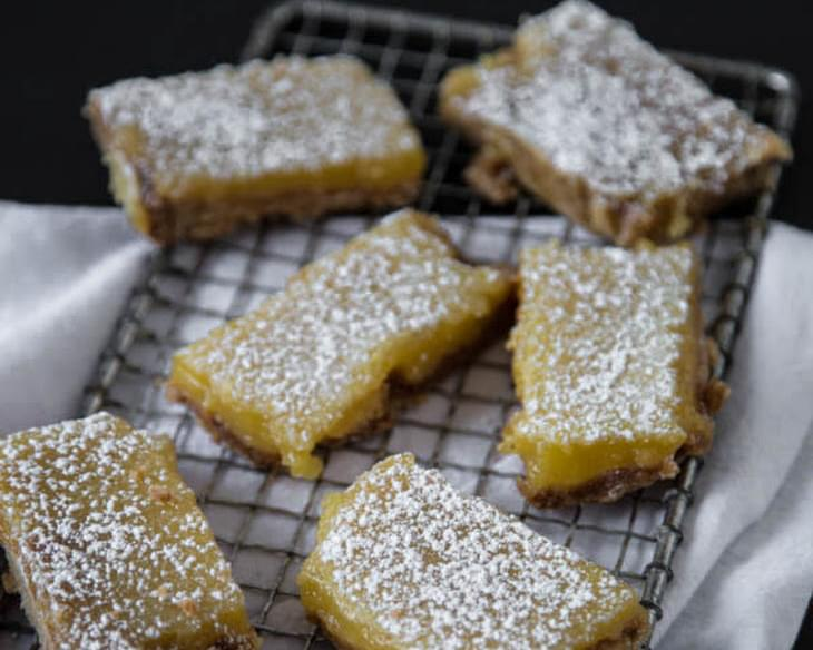 Lemon Bars with Brown Sugar Crust