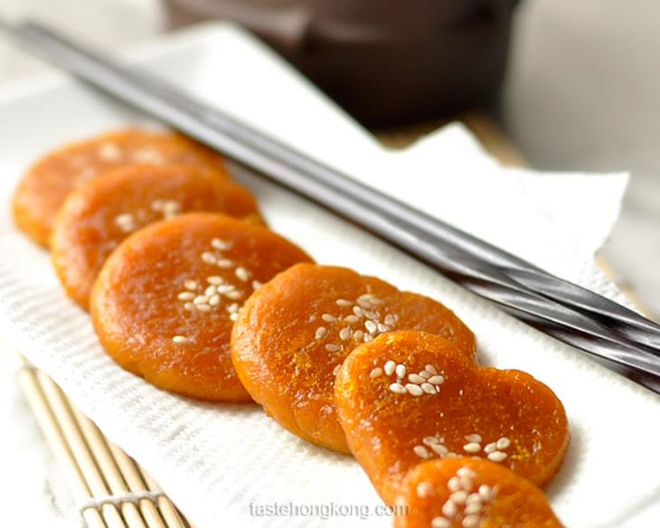 Pumpkin Sweet Rice Pancake, Chinese Style