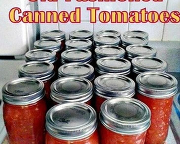 Old Fashioned Canned Tomatoes