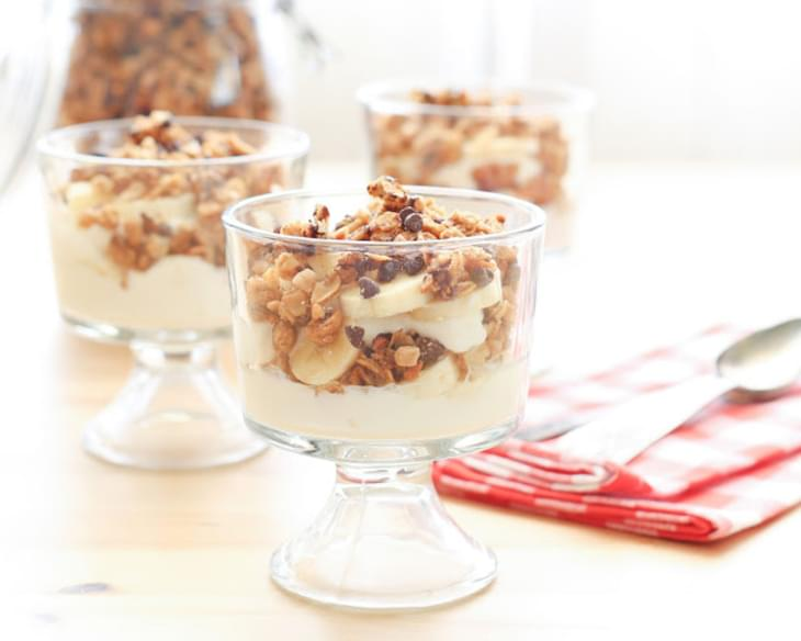 PB Chocolate Chip Granola Parfaits