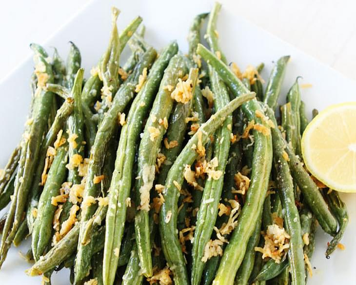 Roasted Lemon Parmesan Green Beans