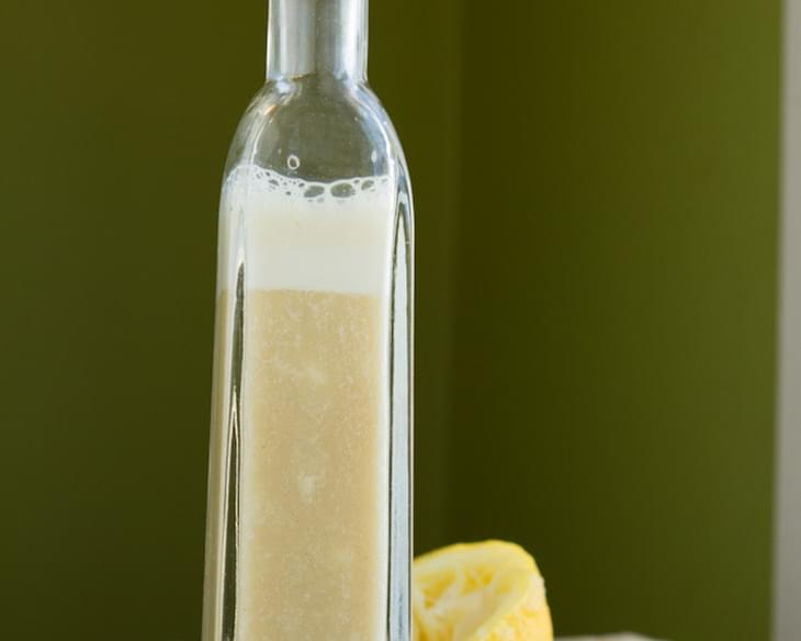 Lemon Garlic Oil-free Salad Dressing