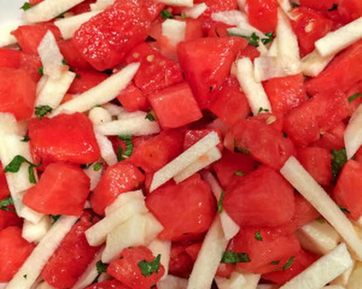 Watermelon and Jicama Salad