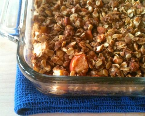 Easy Oatmeal Apple Crisp