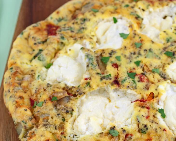 Ricotta and Roasted Red Pepper Frittata