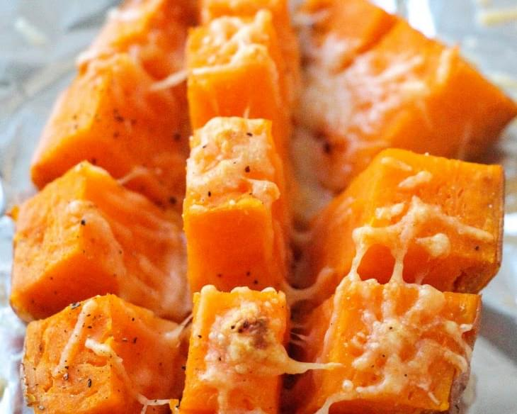 Easy 15 Minutes Roasted Sweet Potatoes