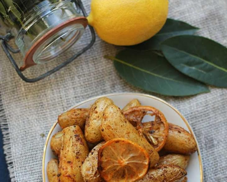 Lemon and Bay Roasted Fingerling Potatoes