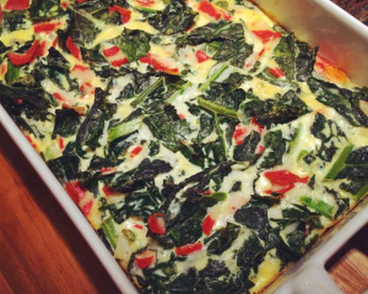 Kale & Mozzarella Frittata (or crustless quiche)