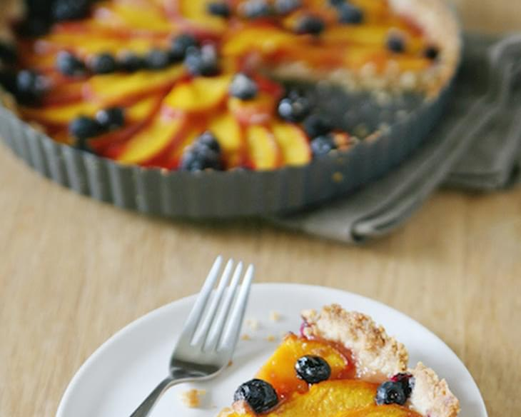 Nectarine and Blueberry Tart