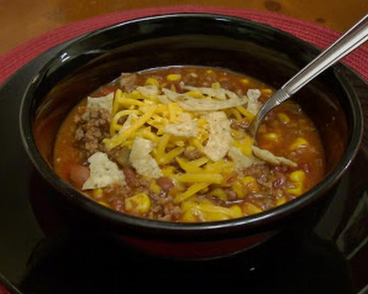 Slow Cooker Can Can Taco Soup