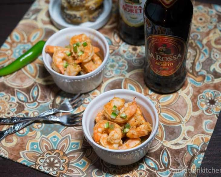 Spicy BBQ Beer Shrimp