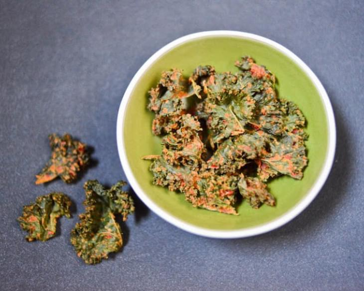 Cheesy Vegan Kale Chips Recipe
