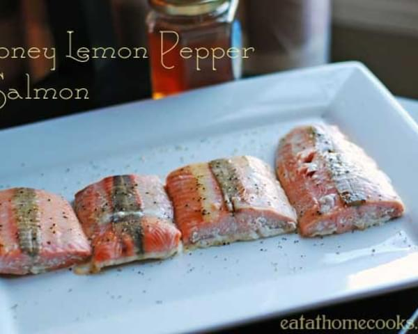 Honey Lemon Pepper Salmon - 15 Minute Meal